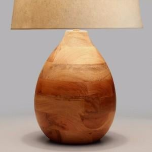 Wood lamp base