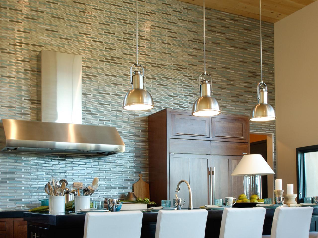 Matchstick tile kitchen backsplash.