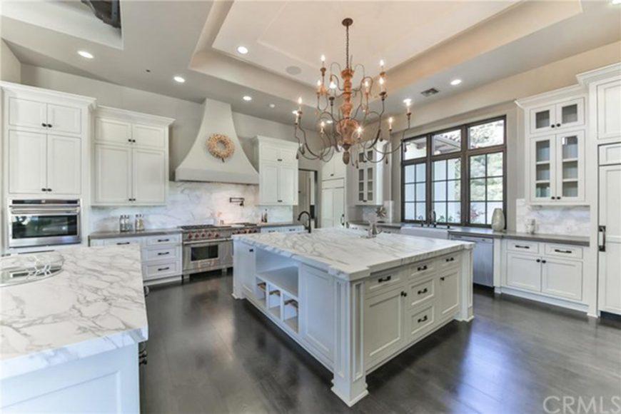 Large, luxurious celebrity kitchen