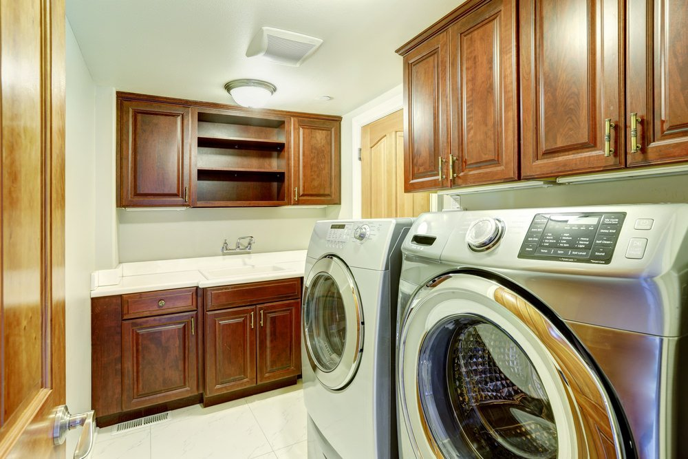 65 Laundry Rooms With Side By Side Washer And Dryer