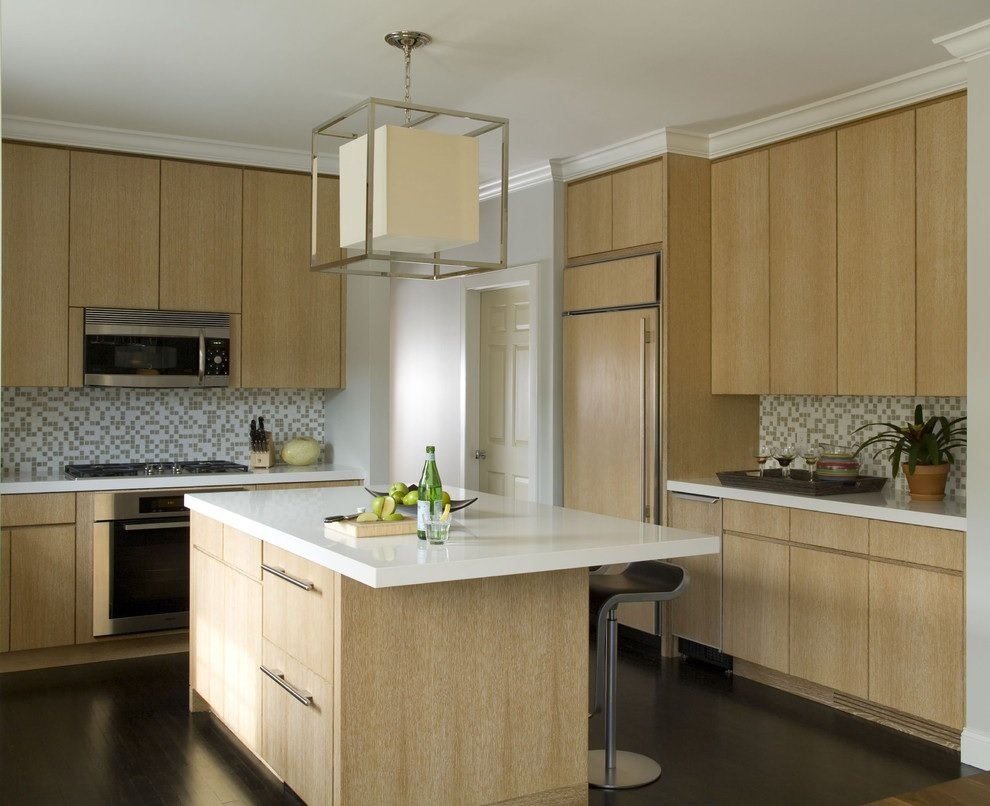 Light wood kitchen cabinet image