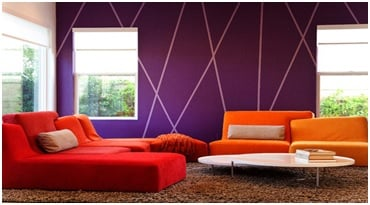 living room purple walls image
