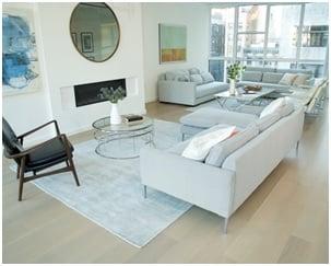 living room white walls image