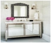 mirrored bathroom cabinet image 1