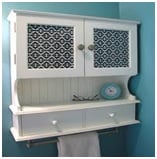 patterned glass bathroom cabinet image 1