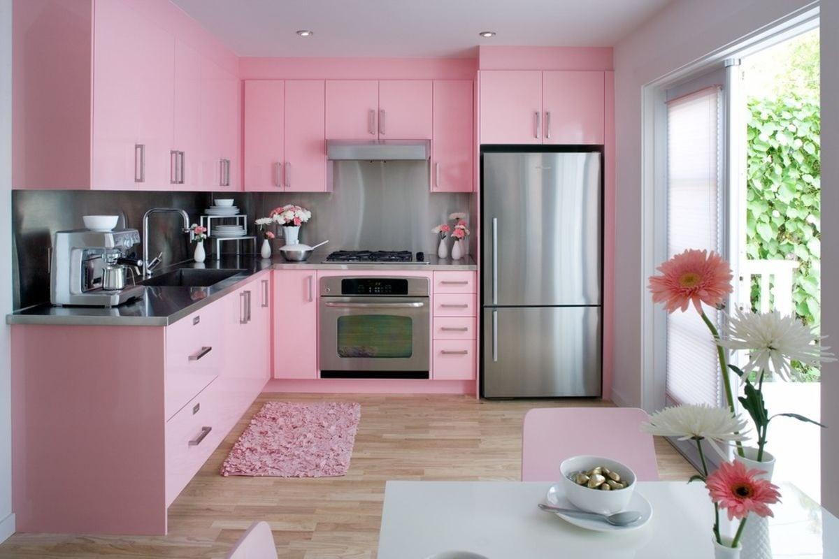 Pink kitchen color image