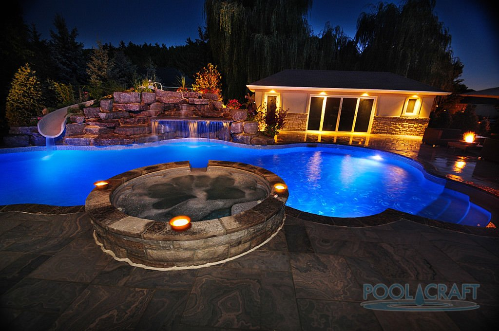 Stunning swimming pool lighting design images amazing house decorating ideas - Swimming pool lighting design ...