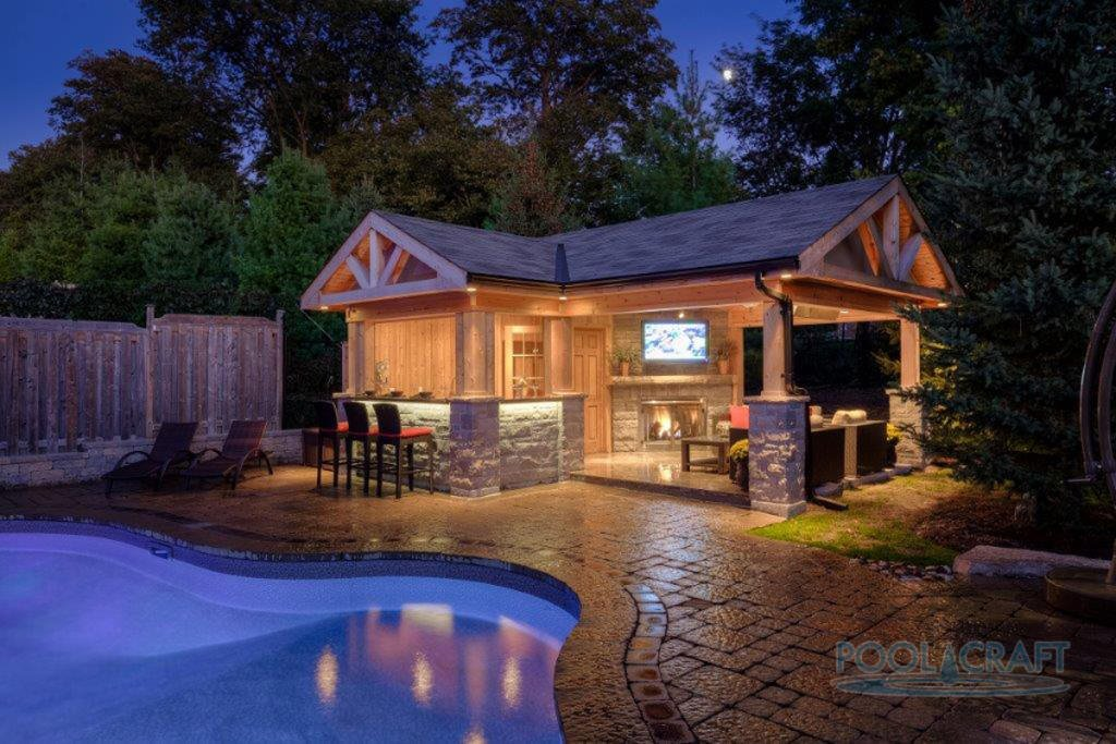 25 Swimming Pools with Cabanas (Photos) - Home Stratosphere on Small Pool Cabana Ideas id=53058