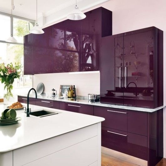 Purple kitchen color image