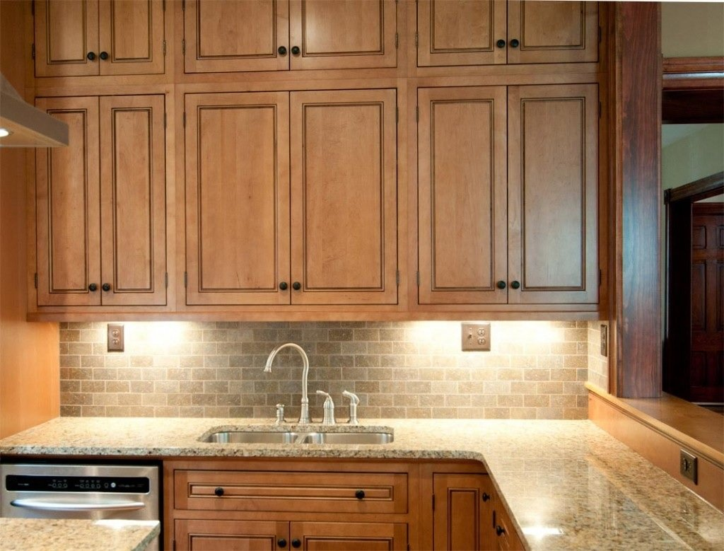 Raised panel kitchen cabinet image