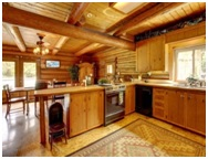rustic style kitchens image