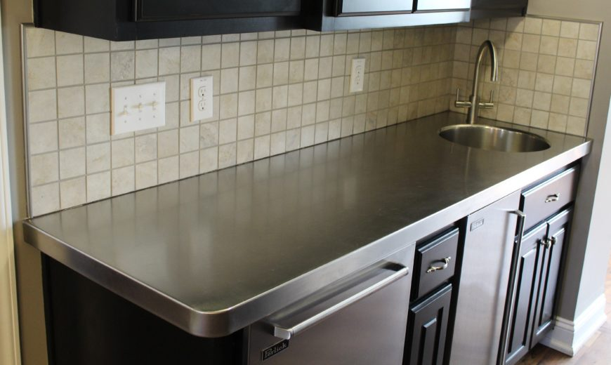 Stainless steel countertop image