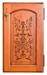 stenciled bathroom cabinet image 3
