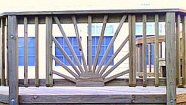 sunburst fan deck railing image