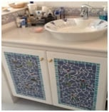 tiled mosaic bathroom cabinet image 1