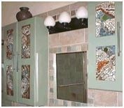 tiled mosaic bathroom cabinet image 2
