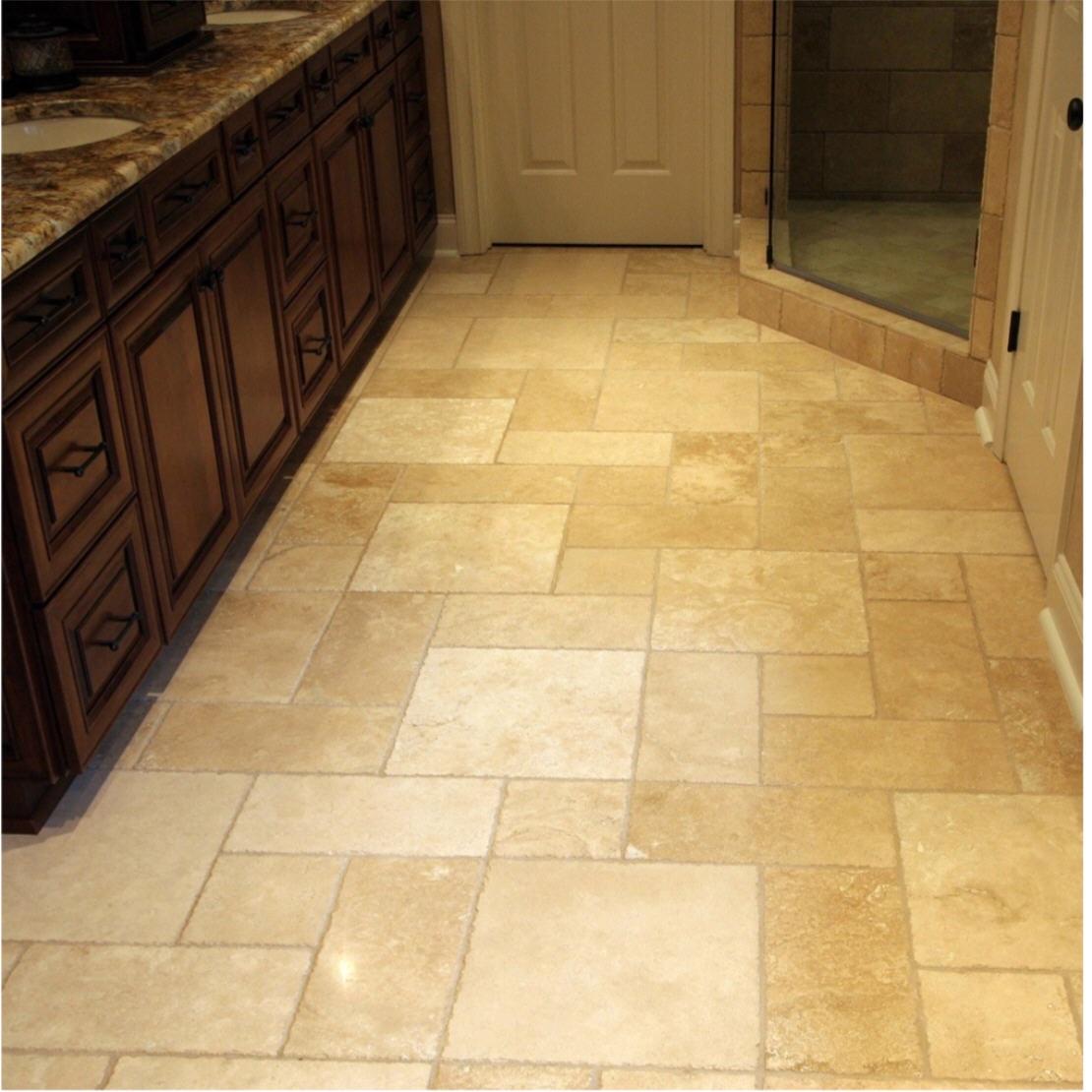 travertine kitchen floor image