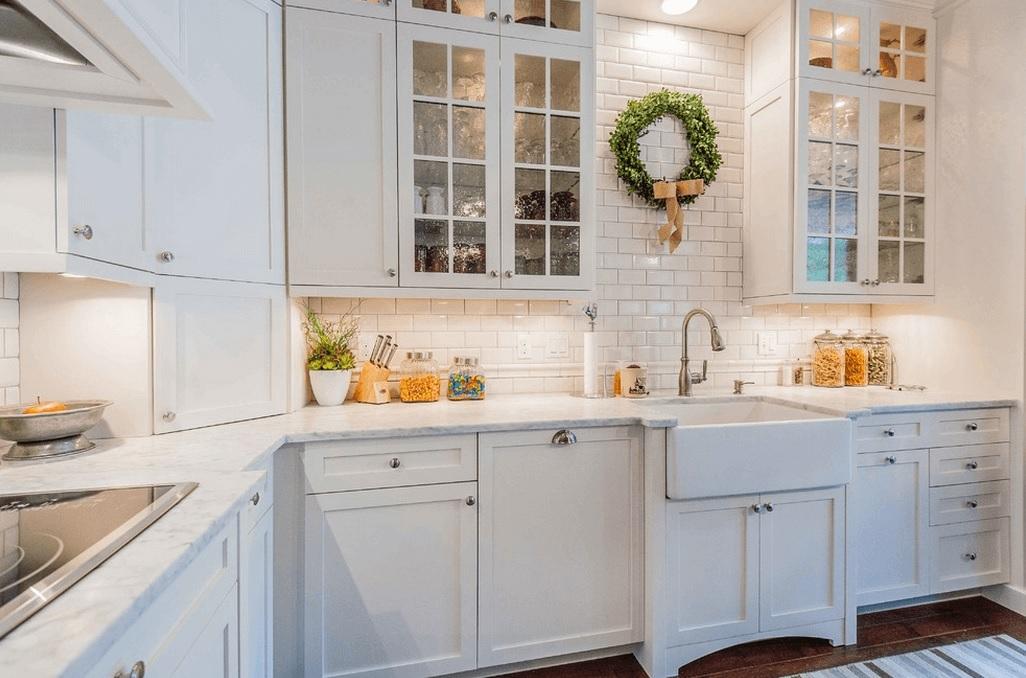 White kitchen color image