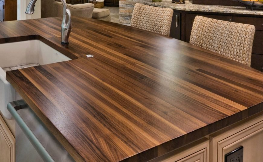 Wood countertop image