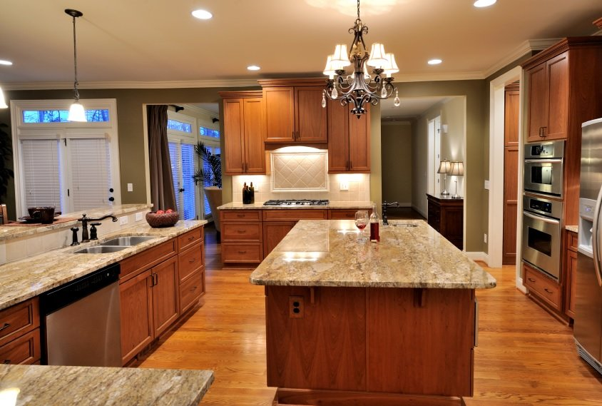 wood tone kitchen color image