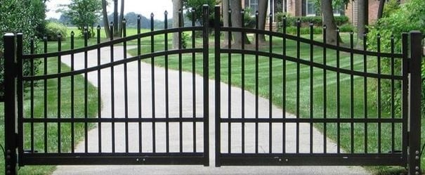 wrought iron fence gate image