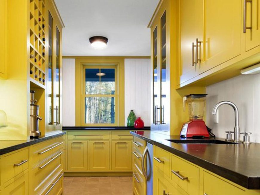 Yellow kitchen color image