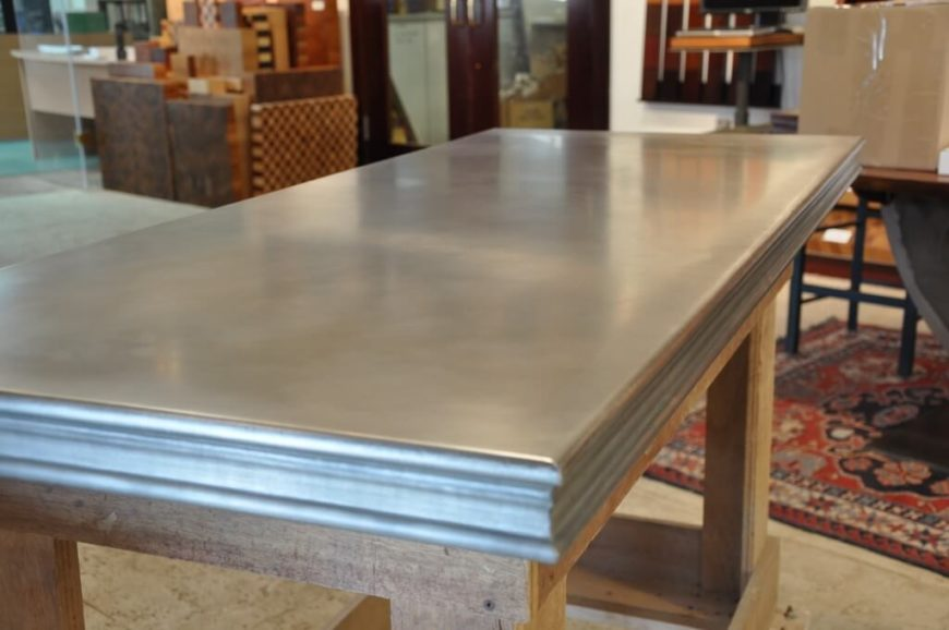 Zinc countertop image