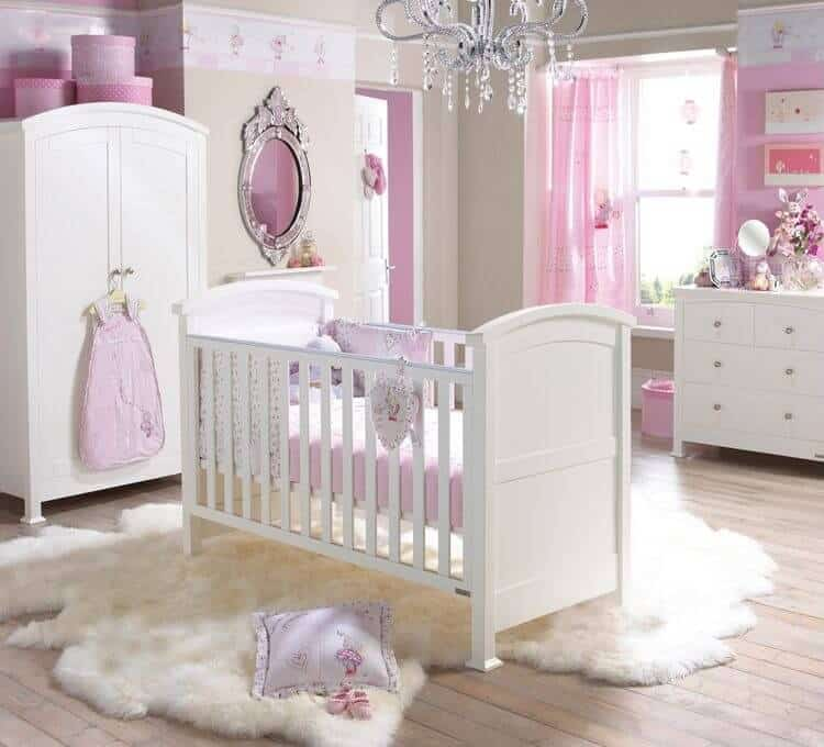 Baby Room Decoration Ideas A cozy nursery room for your baby girl. The fluffy rug will let your  princess