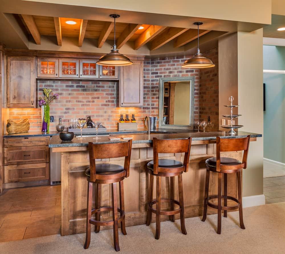 Cool home bar design.