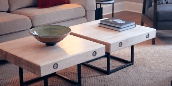 Very cool modern DIY coffee table.