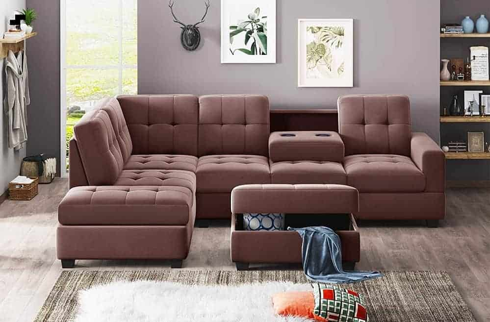 The Aukuyee Sectional Reversible Chaise Lounge from Amazon.