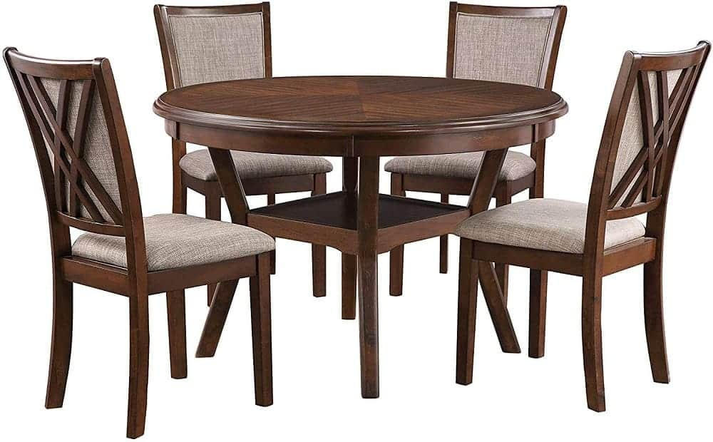 The New Classic Furniture Amy Five-Piece Dining Table Set from Amazon.