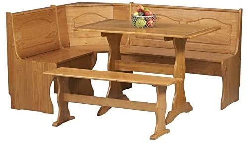 The Riverbay Furniture Breakfast Corner Nook Table Set from Amazon.