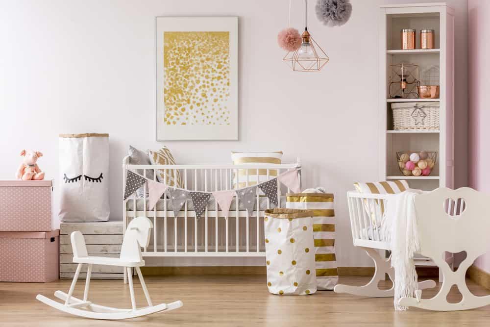 25 baby girl nursery ideas for 2018 - Verf babykamer ...