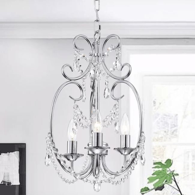Alasdair 3-Light Crystal Chandelier