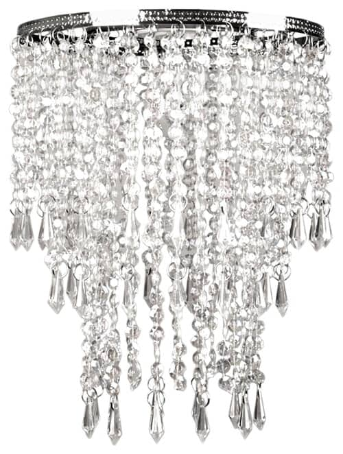 Faux Crystal Triple Layer Dangling Pendant Shade