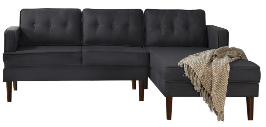 Black stylish sectional sofa under $1,000