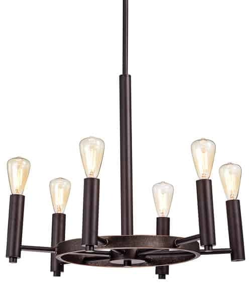 6-Light Chandelier, Oil Rubbed Bronze