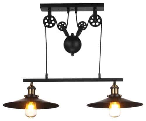 Jupiter Adjustable Metal Island Light, 2 Lights