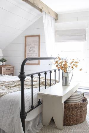 Farmhouse style primary bedroom