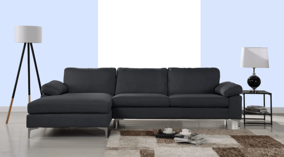 Modern black sectional sofa under $1,000