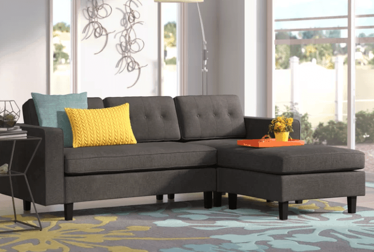 Small sectional sofa for less than $1,000