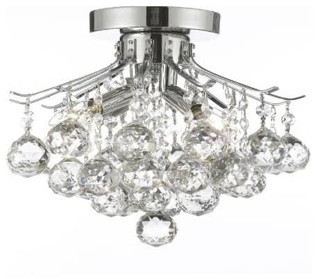 French Empire Crystal Chandelier Silver