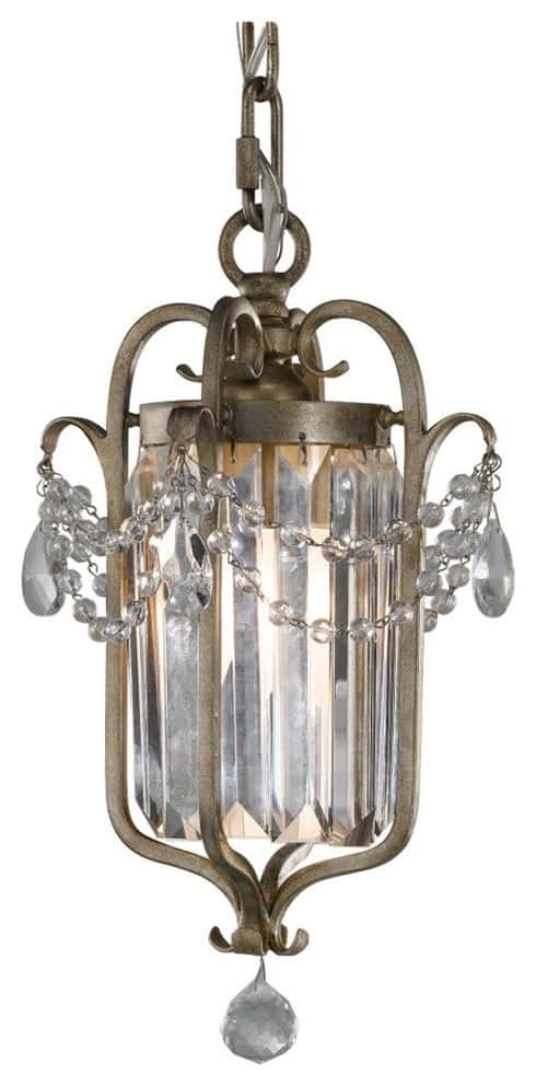 Gianna 1-Light Mini Chandeliers, Gilded Silver
