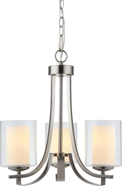 El Dorado 3-Light Chandelier, Satin Nickel