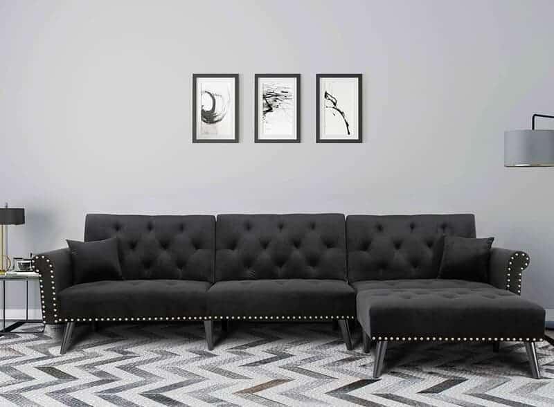 The Rosdorf Park Ferrill 115'' Reversible Sleeper Sofa & Chaise from Wayfair.