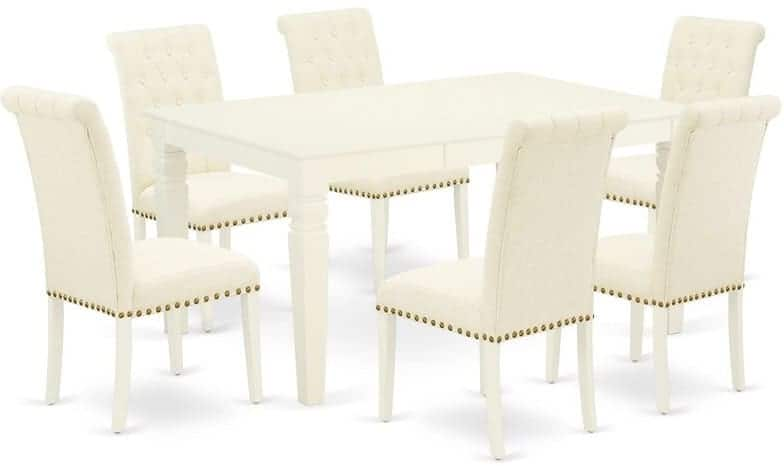 The Óliver Seven-Piece Extendable Solid Wood Dining Set from Wayfair.