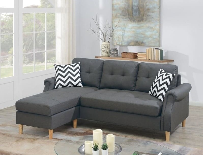 """The Winston Porter Saana 87"""" Wide Reversible Sofa & Chaise from Wayfair."""