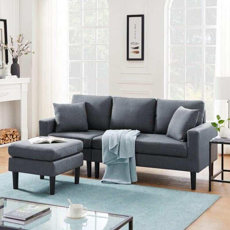 "The Corrigan Studios Unadilla 77.16"" Wide Reversible Sofa & Chaise from Wayfair."