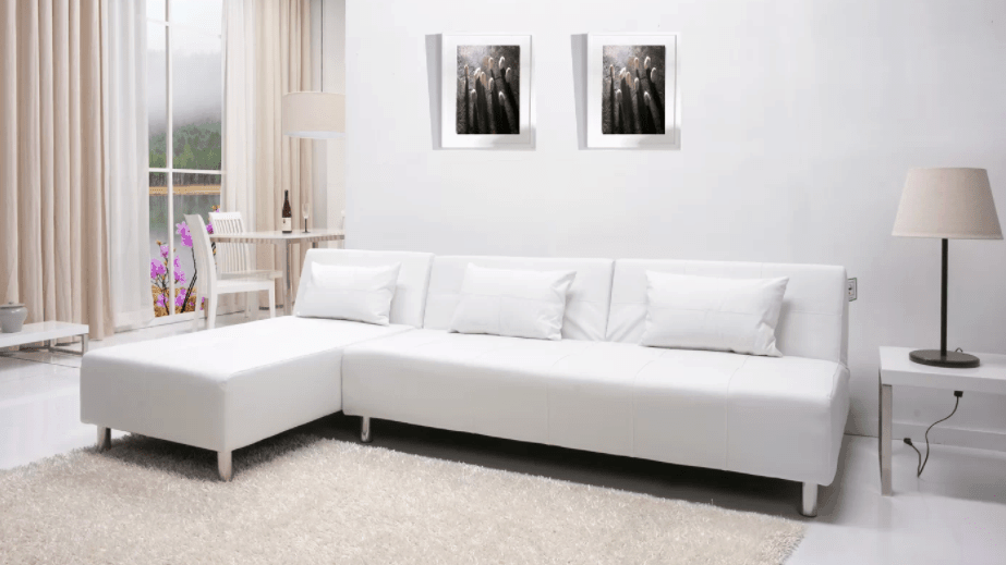 All white sectional sofa that costs less than $1,000